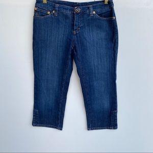 Dolce & Gabbana Cropped Capri Velvet Jeans 28 Blue